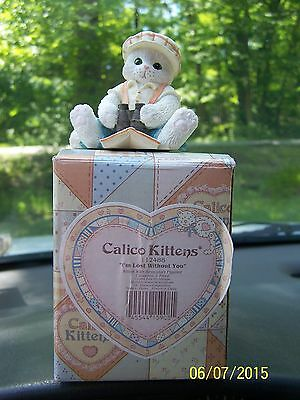 "Calico Kittens By Enesco ""I'm lost without you"""