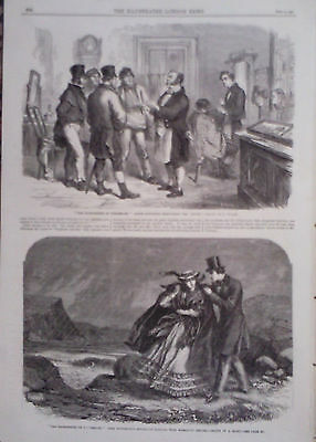 "1863 Print ""the Hairdressing Of Tetherham,"" By L Huard & A Hunt"
