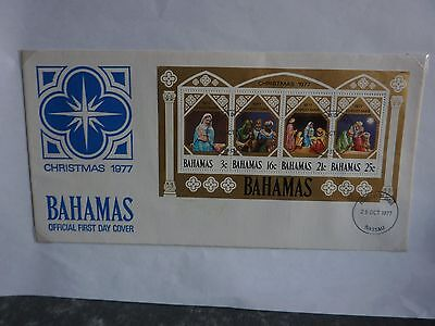 Bahamas Christmas 1977 first day cover