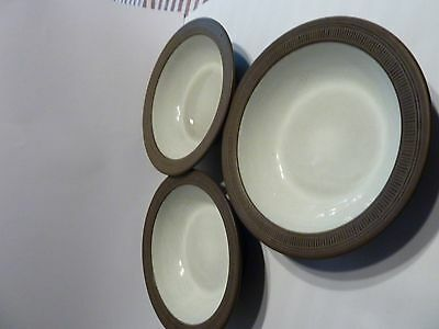 Hornsea Lancaster Vitramic Palatine 1970s cereal bowls three