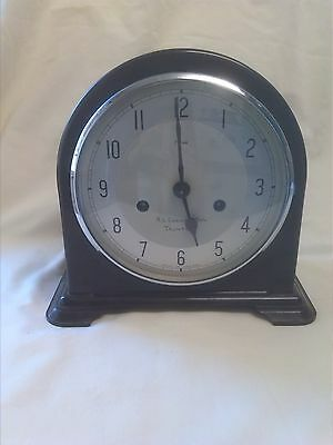 Vintage Bakelite Enfield 8 Day Striking Mantle Clock