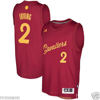 2016~2017 Christmas Edition Cleveland Cavaliers #2 Kyrie Irving Red Jersey