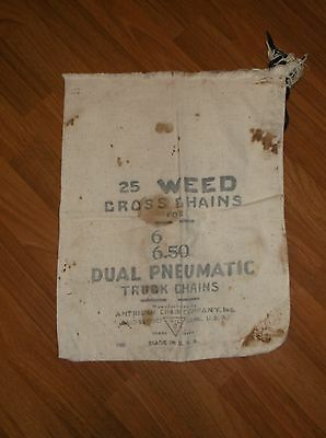 Vtg 25 Weed Cross Chains Dual Pneumatic Truck Chains USA Sack
