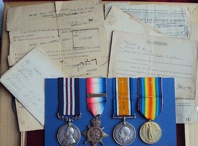 Ww1 Mm & 1914 Trio Dvr King Asc Att 21 Fd Amb From Kelso With Original Paperwork
