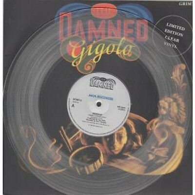 """DAMNED Gigolo 12"""" VINYL 2 Track Limited Clear Vinyl B/w The Portrait (grimt6)"""