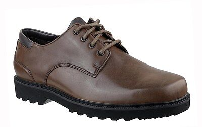 Mens Rockport Northfield Waterproof Brown Leather Shoes - Uk Size 8 (Wide Fit)