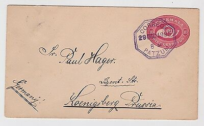 Guatemala PSE Cover From Patzum To Germany 1895 JBP