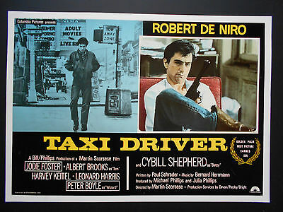 TAXI DRIVER Movie Poster Italian photobusta 1976 ROBERT DE NIRO