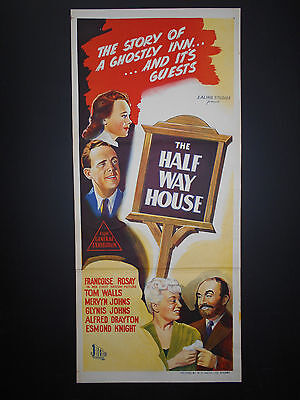 HALFWAY HOUSE movie poster EALING STUDIOS 1944 Glynis Johns Tom Walls  GHOSTS