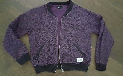 A Questione Of purple and black bomber jacket ladies  girls size 8 to 10 small