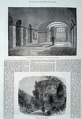 1873 Print The Grave Of Landseer - Hogarth's House At Chiswick