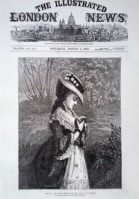 "1873 Print ""sympathy-The Passing Trinute Of A Sigh,"" By A C H  Luxmoore"