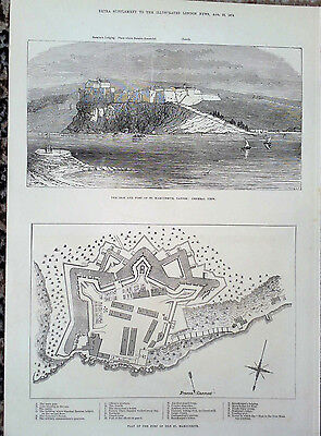 1874 Print The Island And Fort Of St Marguerite,cannes