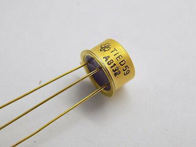 1x TI TIED59 Avalanche Type Photodiode 150MA/W Responsivity TO-39VAR Gold Plated