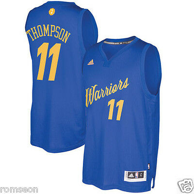 2016~2017 Christmas Edition Golden State Warriors #11 Klay Thompson Blue Jersey