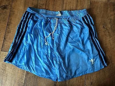 Vintage Adidas Sports Shorts 80s Boxer Retro Running Jog Original D7 Large W36