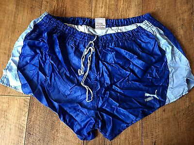 Vintage Puma Sports Shorts 80s XL Sprint Retro Running Glanz Men's Retro W36 D7