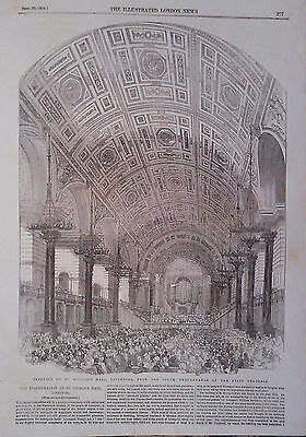 1854 Print St George's Hall,liverpool,performance Of The First Oratorio