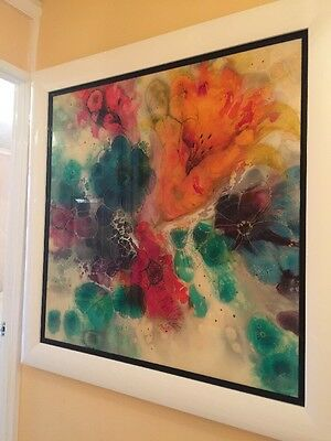 Kerry Darlington Original floral artwork 46 x 46 very large not limited edition