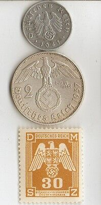 -*5 - *ww2  -  *us  and   *german      coins  and  stamps