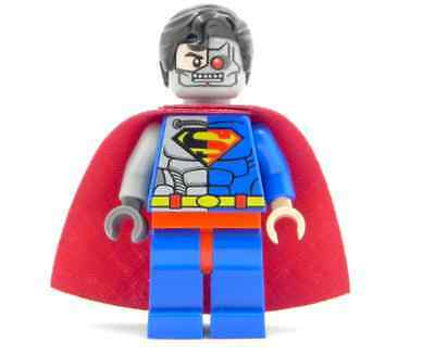 Cyborg Superman - All Lego part MINIFIGURE - Special inspired Lego collection
