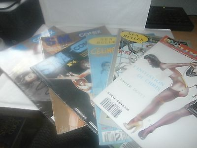 MIXED FRENCH ADULT GRAPHIC NOVELS,COMIC BDSM MENSUEL No. 27,67,46,1,15,8   SOFT