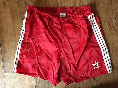 Vintage Adidas Sports Shorts 80s Boxer Retro Running Jog Small W32 Small Sun