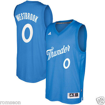 2016~2017 Christmas Edition Oklahoma City Thunder #0 Russell Westbrook Jersey