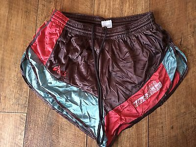 Vintage Asics Sports Shorts M W28-32 80s Sprint Retro Running Glanz Nylon