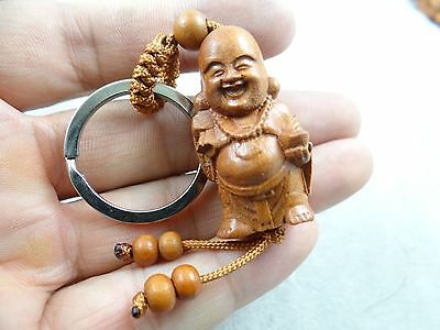 42*18MM Hand-carved Monk Wooden Crafts, Key Chain, Key Ring