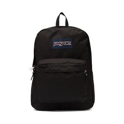 2016 Jansport Superbreak Backpack Black 100% AUTHENTIC School backpack book bag