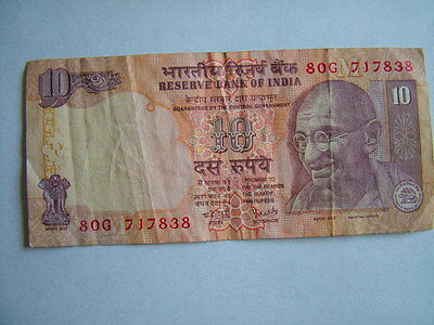 RESERVE BANK OF INDIA 10  RUPEE Banknote