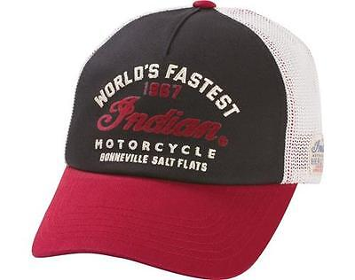 Indian Motorcycle Munro Hat worlds fastest cap logo script mens gift accessory