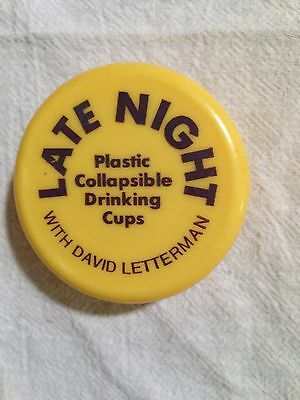 Late Night with David Letterman Collapsible Plastic Cup