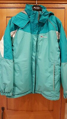 Girls Berghaus jacket age 13 ideal for ski holiday loads pockets etc on vgc