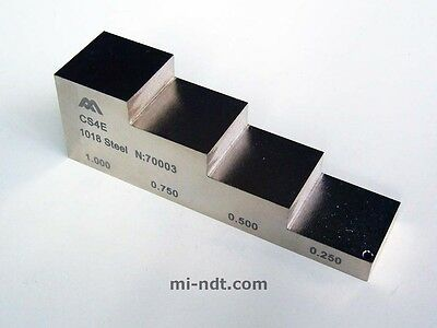 4 steps thickness calibration block, 1018 Carbon Steel, Equality 2212E (inch)