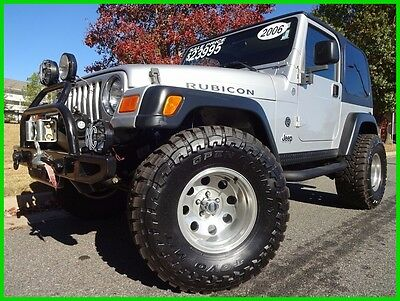 2006 Jeep Wrangler LIFTED RUBICON WE FINANCE TRADES WELCOME HARDTOP 33 INCH TIRES BUMPER WINCH RUNNING BOARDS 4.0L AUTOMATIC CD PLAYER KC