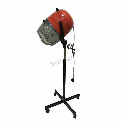 FoxHunter Portable Salon Hair Hood Dryer Stand Up Hairdresser Styling Red New
