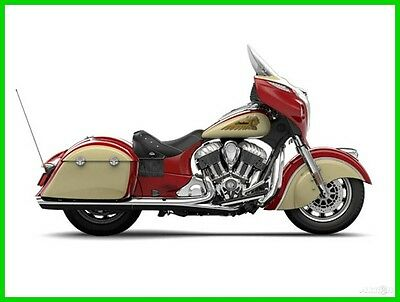 Indian Chieftain® Indian Chieftain 2015 Indian Chieftain Indian Red Ivory Cream - New - No Reserve