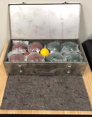 Vintage Forster Bocce Ball Set With Metal Carrying Case