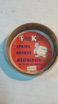 Vtg Frost King Spring Bronze Brass  Weatherstrip for Doors and Windows