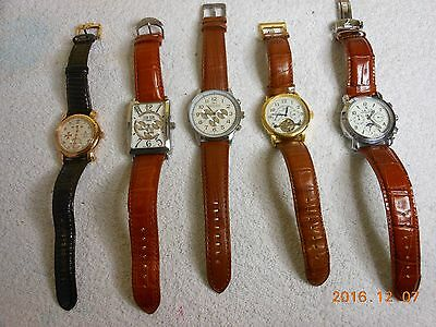 """Mens lot of 5 """"high-end"""" watches"""