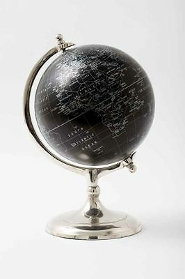 20cm Black Modern World Globe With Silver Stand For Office and Home Decoration