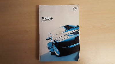 Genuine Mazda 6 Handbook Owners Manual For 2002-2005 Cars