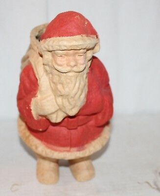 Vintage Santa Candy Container Pulp Paper Mache He's Standing