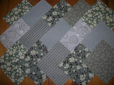 """48 x 4"""" CHARM PACK GREY  100% COTTON PATCHWORK/QUILTING/CRAFTS  G48"""