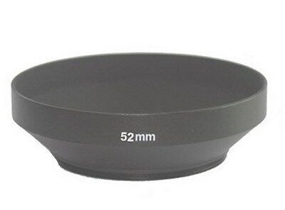 NEW wide angle 52mm metal lens hood cover for 52mm filter/lens