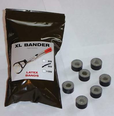 TRI-BANDER XL BANDS Castrate Bulls Goats Fast Easy to Use 250-750lbs 2 x 25ct