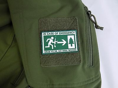 VZ58,SA58 Funny Patch - In Case of Emergency Grab VZ58 Go Inna Woods - Green