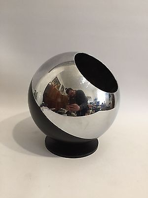 QUIST Kugel Flaschenhalter Chrom Schwarz 70er Design Ball Bottle Holder 70s ****